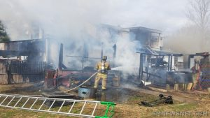 Fire Destroys Family Home on North Sandgates Road