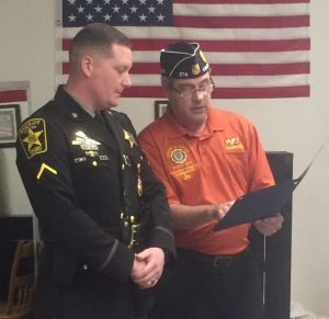 Sheriff's Deputy Presented with the American Legion Law Officer of the Year Award