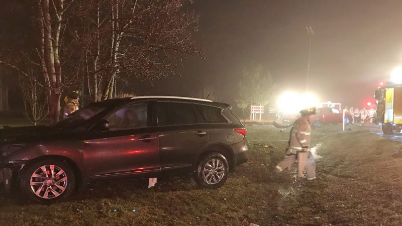 Late Night Crash in Lexington Park Sends Three to Area Hospitals