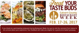 Dine Out During Calvert County's Fifth Annual Restaurant Week