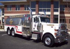 dunkirk fire truck involved in motor vehicle accidenti n huntingtown
