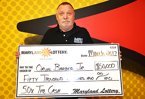 Orval Barber Jr. of Glen Burnie is $50,000 richer after playing a 50x The Cash scratch-off.