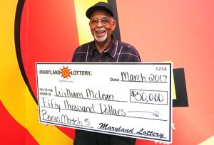 "William ""Billy"" McLean of Bowie won a $50,000 prize after his last-minute Bonus Match 5 purchase!"