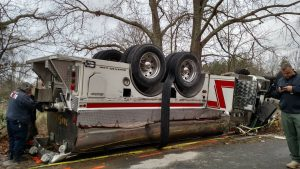 UPDATE: Dunkirk Fire Truck Involved in Motor Vehicle Accidenti n Huntingtown