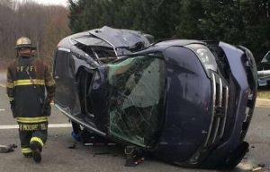 High Speed Police Chase Ends with Crash in Calvert County