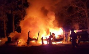 Two Dogs Perish in Friday Evening Camper Fire in Drayden