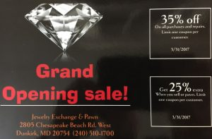 Jewelry Exchange & Pawn Opens New Store in Dunkirk