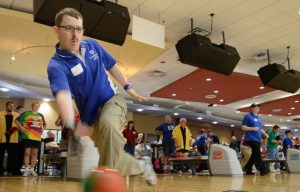 Pax Sailors volunteer with D.C. Special Olympics Bowling Championship