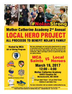 You're Invited: Mother Catherine Academy Challenges Local Law Enforcement to a Basketball Game to Benefit NolanStrong