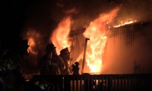 VIDEO: Trailer in Lexington Park Destroyed in Early Morning Fire