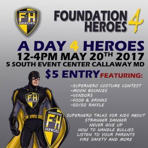 A Day 4 Heroes – May 20th, from 12 – 4pm