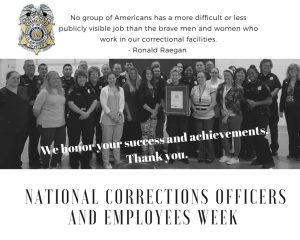 Thank an Officer, It's National Correctional Officer and Employees Week