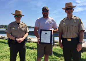 Charter Captain Given Certificate of Appreciation