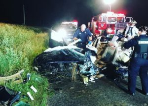 One Patient Flown from Early Morning Crash in Bushwood