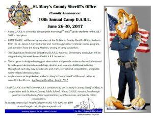 CAMP D.A.R.E. Registration Deadline Extended to Friday, June 9.