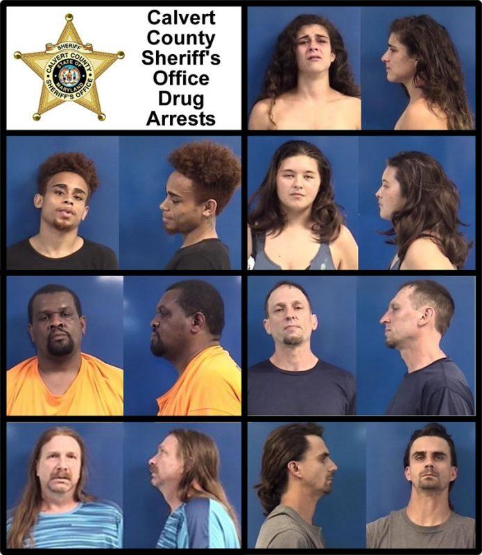 Calvert County Drug Arrests for 7/13/2017