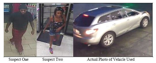 Calvert County Sheriff's Office Requests Public's Help Identifying Theft Suspects