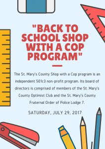 """Back to School Shop with a Cop"" set for Saturday"