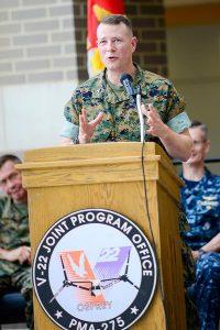 V-22 Joint Program Office Welcomes New Program Manager