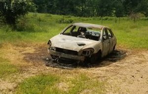 Stolen Vehicle Set on Fire in Charlotte Hall