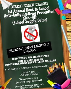Back to School Anti-Bullying/Drug Prevention Event to be Held