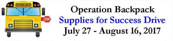 Children's Aid, Inc. Collecting Schools Supplies for Local Children