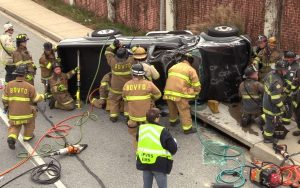 VIDEO: Motor Vehicle Crash in Great Mills Sends One to Trauma Center