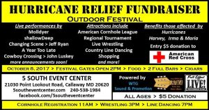 Hurricane Relief Outdoor Festival Fundraiser Scheduled for this Weekend