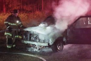 VIDEO: Fire Destroys Pickup Truck in Lexington Park