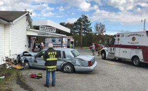 Vehicle Crashes into Village Liquors in Chaptico