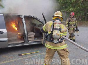 Exclusive Video: Firefighters Quickly Extinguish Van Fire in California
