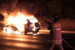 Exclusive Video: SUV Destroyed by Fire in California