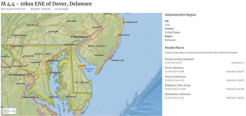 Maryland Emergency Management Agency Monitoring After Earthquake - New us map after earthquake