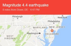 Maryland Emergency Management Agency Monitoring After Earthquake Near Delaware Coast