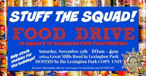 Stuff the Squad Event Scheduled in Lexington Park
