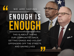 Governor Larry Hogan Announces Statewide Violent Crime Initiatives