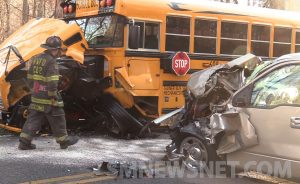 Motor Vehicle Accident Involving an Unoccupied School Bus in Mechanicsville
