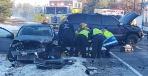 Icy Roads Lead to Head-On Motor Vehicle Collision in California
