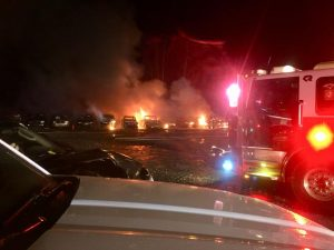 Multiple Vehicles Destroyed in Early Morning Fire in White Plains