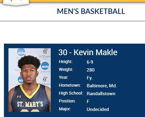 Kevin Louis Makle, 18, of Finksburg