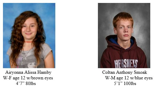MISSING JUVENILES – St. Mary's County