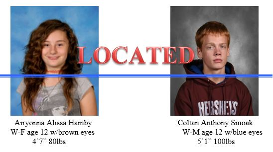 UPDATE: Missing Juveniles LOCATED – St. Mary's County