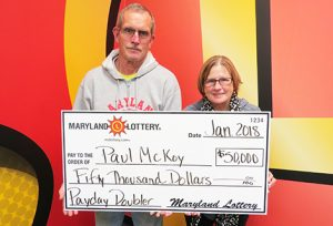Calvert County Couple Win $50,000 Scratch-off Prize