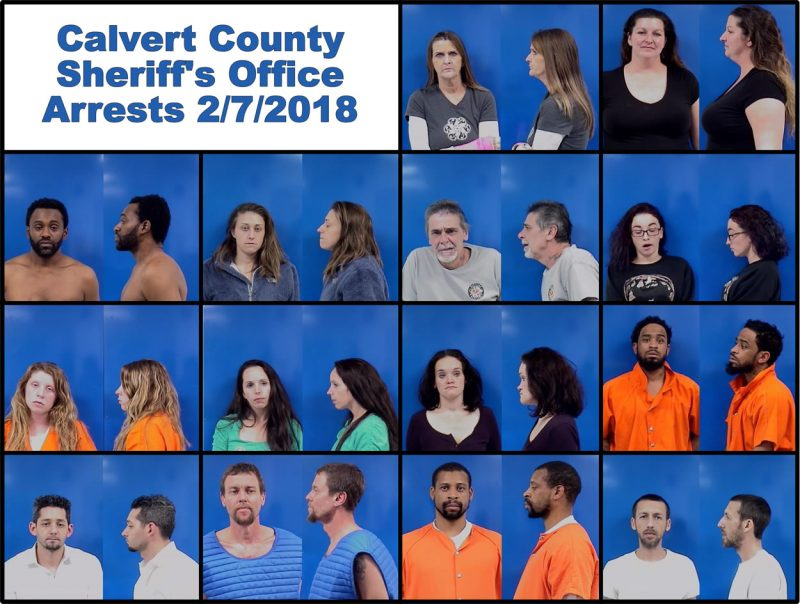Calvert County Sheriff's Office Arrests – 2/7/2018