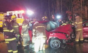Three Vehicle Accident on Chancellors Run Road in Great Mills