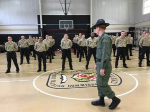 The 59th Basic Recruit Class at attention