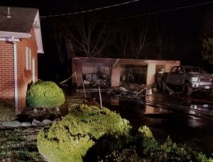 Family Garage in Waldorf Destroyed by Fire
