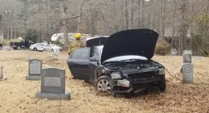 Driver Crashes Through Cemetery on Hermanville Road in Lexington Park