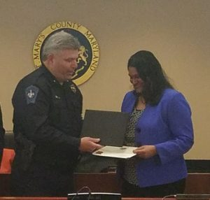 St. Mary's County Health Officer Receives FBI Director's Community Leadership Award