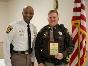Sons of the American Legion Honor Charles County Sheriff's Office, PFC Andrew Coulby as Officer of the Year